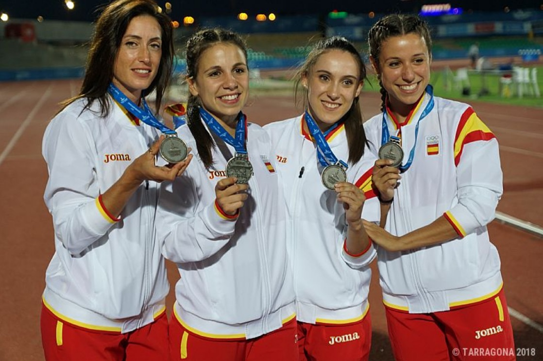Atletisme relleu femeni 4x100 Tarragona'2018